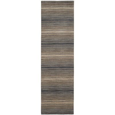 Sherri Grey Stripes Area Rug Rug Size: Runner 23 x 8