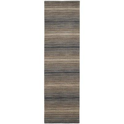 Sherri Grey Stripes Area Rug Rug Size: Runner 23 x 8