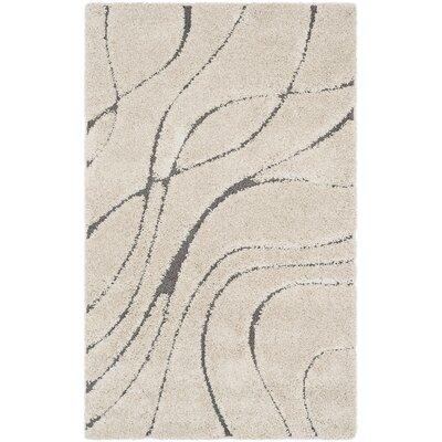 Enrique Cream/Gray Area Rug Rug Size: Rectangle 33 x 53