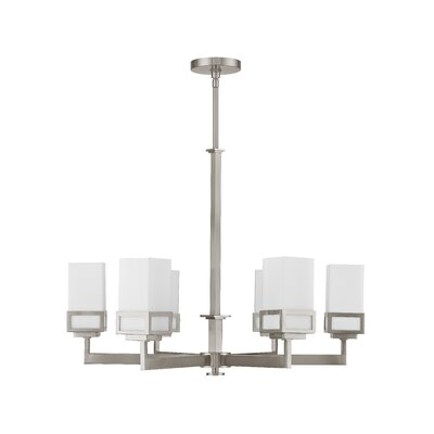 Nailwell 6-Light Shaded Chandelier Finish: Brushed Nickel
