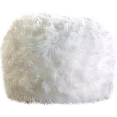Sallie Fuzzy Pouf Upholstery Color: White