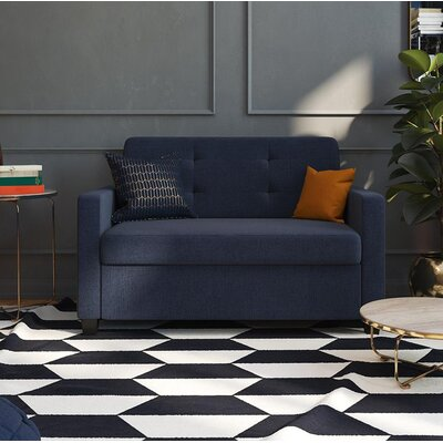 Jovita Sleeper Sofa Color: Navy