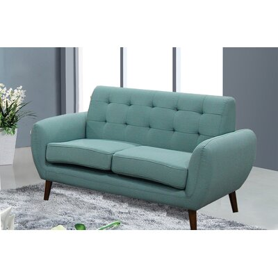 Diara Living Room Loveseat Upholstery: Teal