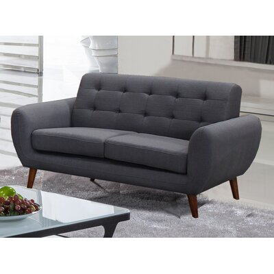 Philip Loveseat Upholstery: Dark Gray