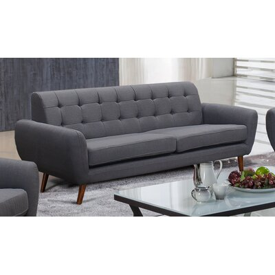 Diara Living Room Sofa Upholstery: Dark Gray