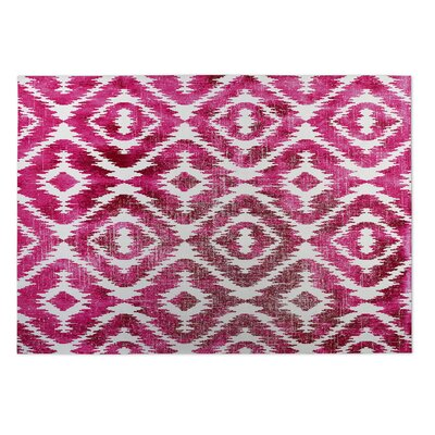 Laplant Pink/Gray Indoor/Outdoor Area Rug Rug Size: Rectangle 4 x 5