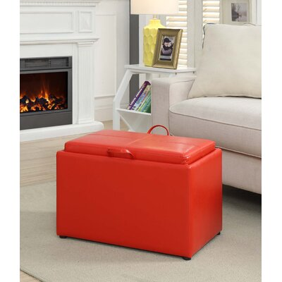 Marla Storage Ottoman Upholstery: Bright Red