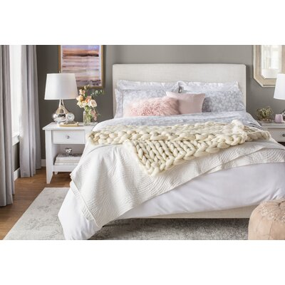 Upholstered Panel Bed Size: Queen, Color: Talc