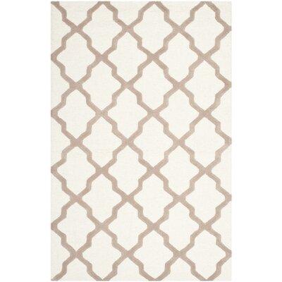 Charlenne Hand-Tufted Wool Ivory/Beige Area Rug Rug Size: Rectangle 5 x 8