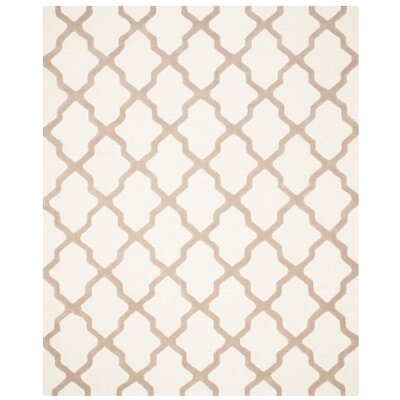 Charlenne Hand-Tufted Wool Ivory/Beige Area Rug Rug Size: Rectangle 8 x 10