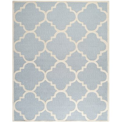 Charlenne Hand-Tufted Light Blue/Ivory Area Rug Rug Size: Rectangle 8 x 10