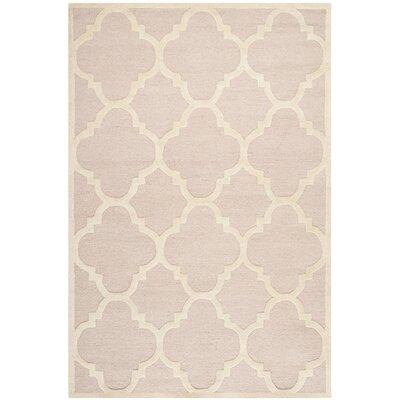Charlenne Trellis Light Pink & Ivory Area Rug Rug Size: Rectangle 6 x 9