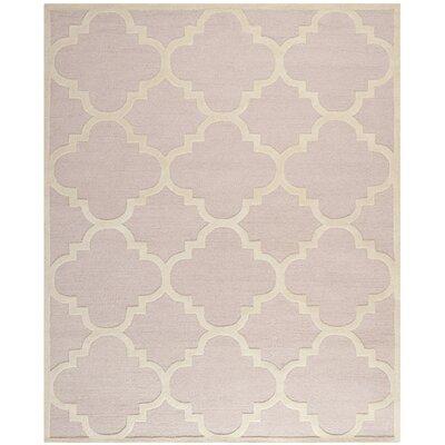 Charlenne Trellis Light Pink & Ivory Area Rug Rug Size: Rectangle 8 x 10
