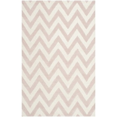 Charlenne Hand-Tufted Light Pink/Ivory Area Rug Rug Size: Rectangle 5 x 8