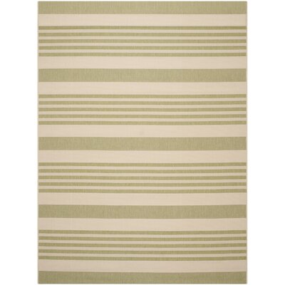 Sophina Beige/Sweet Pea Striped Contemporary Indoor/Outdoor Area Rug Rug Size: Rectangle 8 x 11