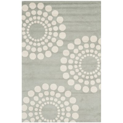 Dash Hand-Tufted Wool Gray/Ivory Area Rug Rug Size: Rectangle 5 x 8