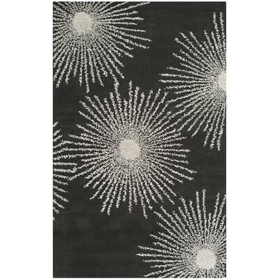 Dash Charcoal/Ivory Rug Rug Size: Rectangle 5 x 8