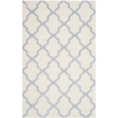 Charlenne Hand-Tufted Ivory/Gray Area Rug Rug Size: Rectangle 5 x 8