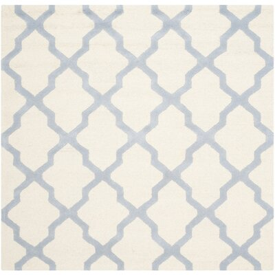 Charlenne Hand-Tufted Ivory/Gray Area Rug Rug Size: Square 6