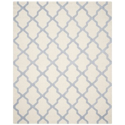 Charlenne Hand-Tufted Ivory/Gray Area Rug Rug Size: Rectangle 8 x 10