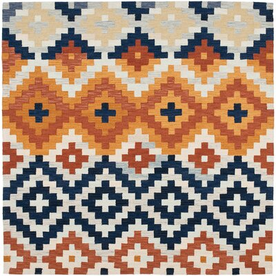 Ariadnee Checked Area Rug Rug Size: Square 6