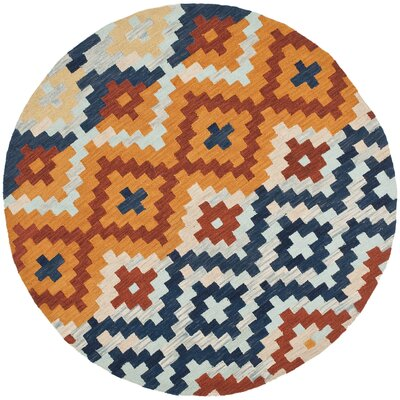 Ariadnee Checked Area Rug Rug Size: Round 56