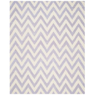 Charlenne Hand-Tufted Wool Lavender/Ivory Area Rug Rug Size: Rectangle 8 x 10