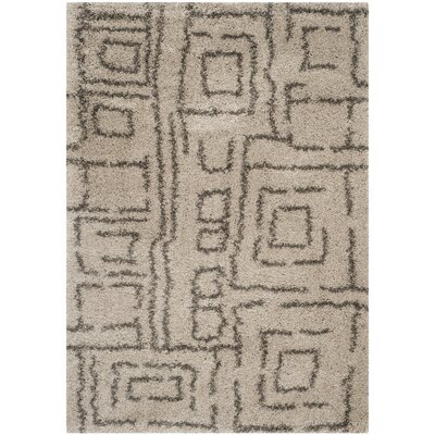 Holliday Taupe/Gray Area Rug Rug Size: Rectangle 51 x 76