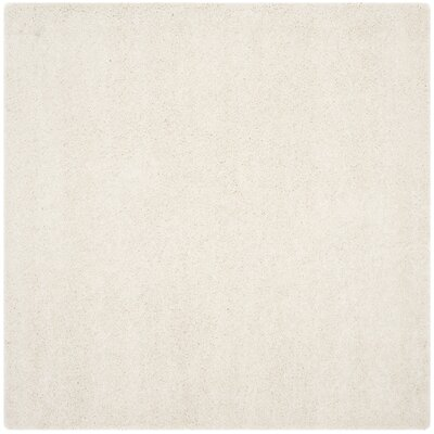 Holliday Solid Ivory Area Rug Rug Size: Square 7