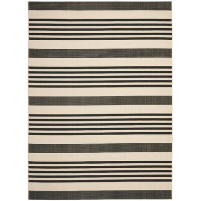 Sophina Black Indoor/Outdoor Area Rug Rug Size: Rectangle 8 x 112