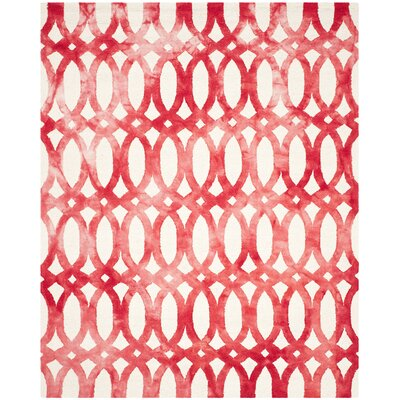 Edie Ivory/Red Area Rug Rug Size: Rectangle 8 x 10