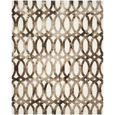 Edie Ivory/Cacao Area Rug Rug Size: Rectangle 8 x 10