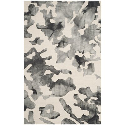 Chancey Dip Dyed Beige & Charcoal Area Rug Rug Size: Rectangle 5 x 8