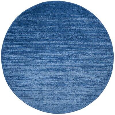Rebel Blue Area Rug Rug Size: Round 6