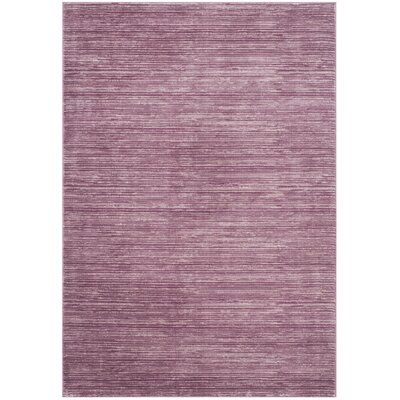Harloe Purple Area Rug Rug Size: Rectangle 51 x 76