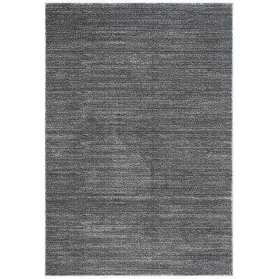 Harloe Solid Gray Area Rug Rug Size: Rectangle 51 x 76