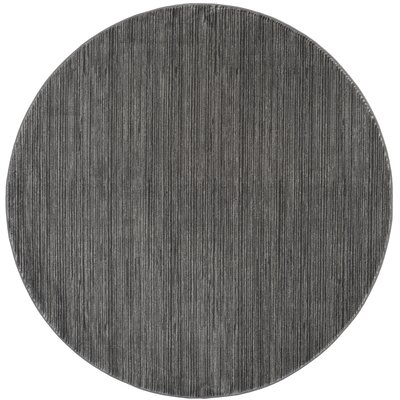 Harloe Solid Gray Area Rug Rug Size: Round 67
