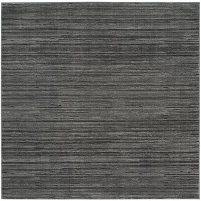 Harloe Solid Gray Area Rug Rug Size: Square 67