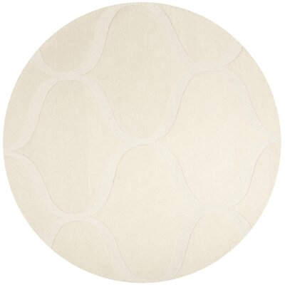 Charlenne Hand-Tufted Ivory Area Rug Rug Size: Round 6 x 6
