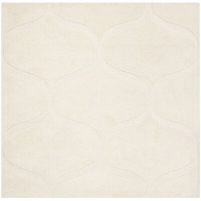 Charlenne Hand-Tufted Ivory Area Rug Rug Size: Square 6 x 6