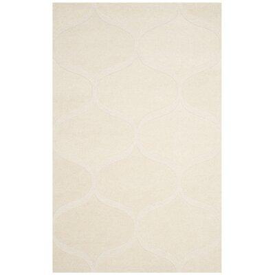 Charlenne Hand-Tufted Ivory Area Rug Rug Size: Rectangle 5 x 8
