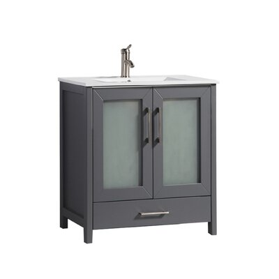 Larrick 30 Single Bathroom Vanity Base Finish: Espresso