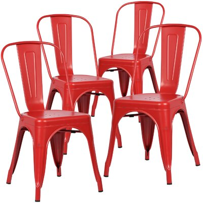 Alyssa Side Chair Finish: Red