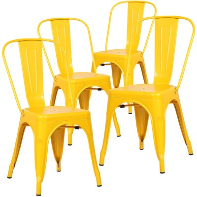 Alyssa Dining Chair Finish: Yellow
