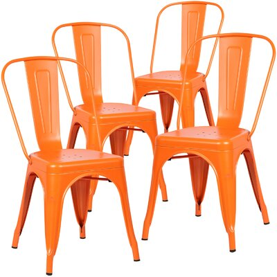 Alyssa Side Chair Finish: Orange