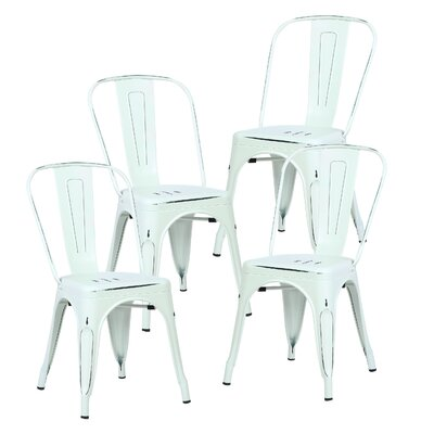 Alyssa Side Chair Finish: Distressed White