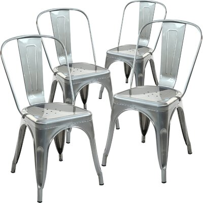 Alyssa Dining Chair Finish: Polished Gunmetal