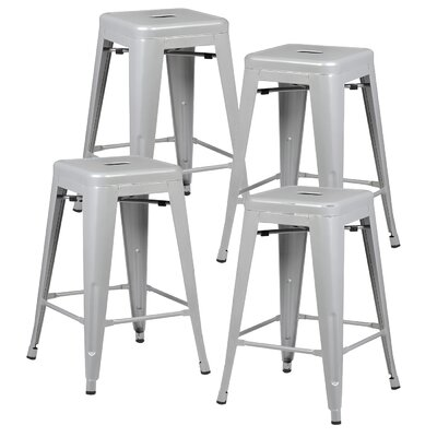 Alyssa 24 Bar Stool Color: Gray