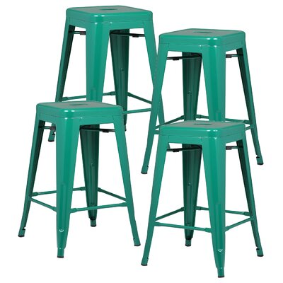Alyssa 24 Bar Stool Color: Dark Green