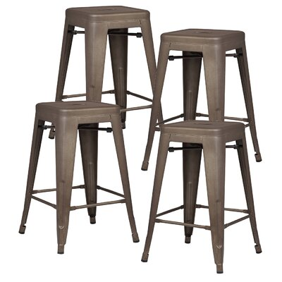 Alyssa 24 Bar Stool Color: Bronze
